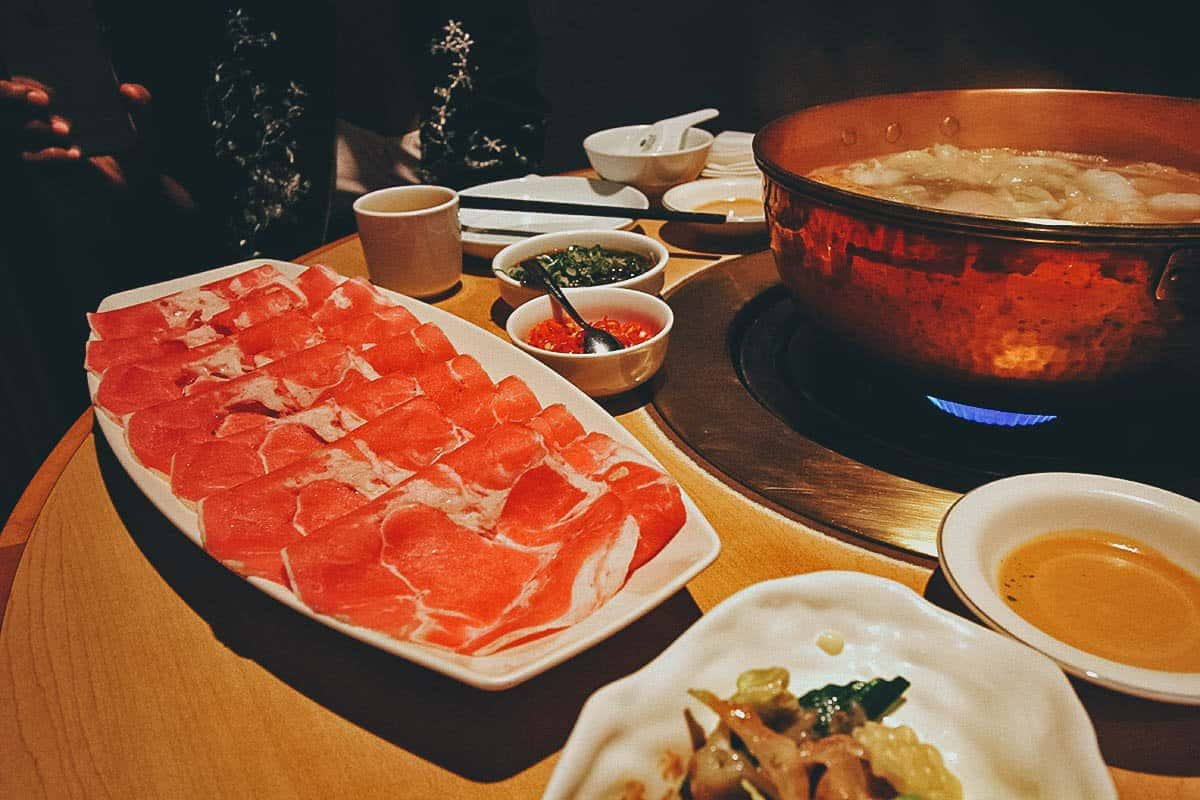 Hot Pot at Orange Shabu Shabu House in Taipei, Taiwan