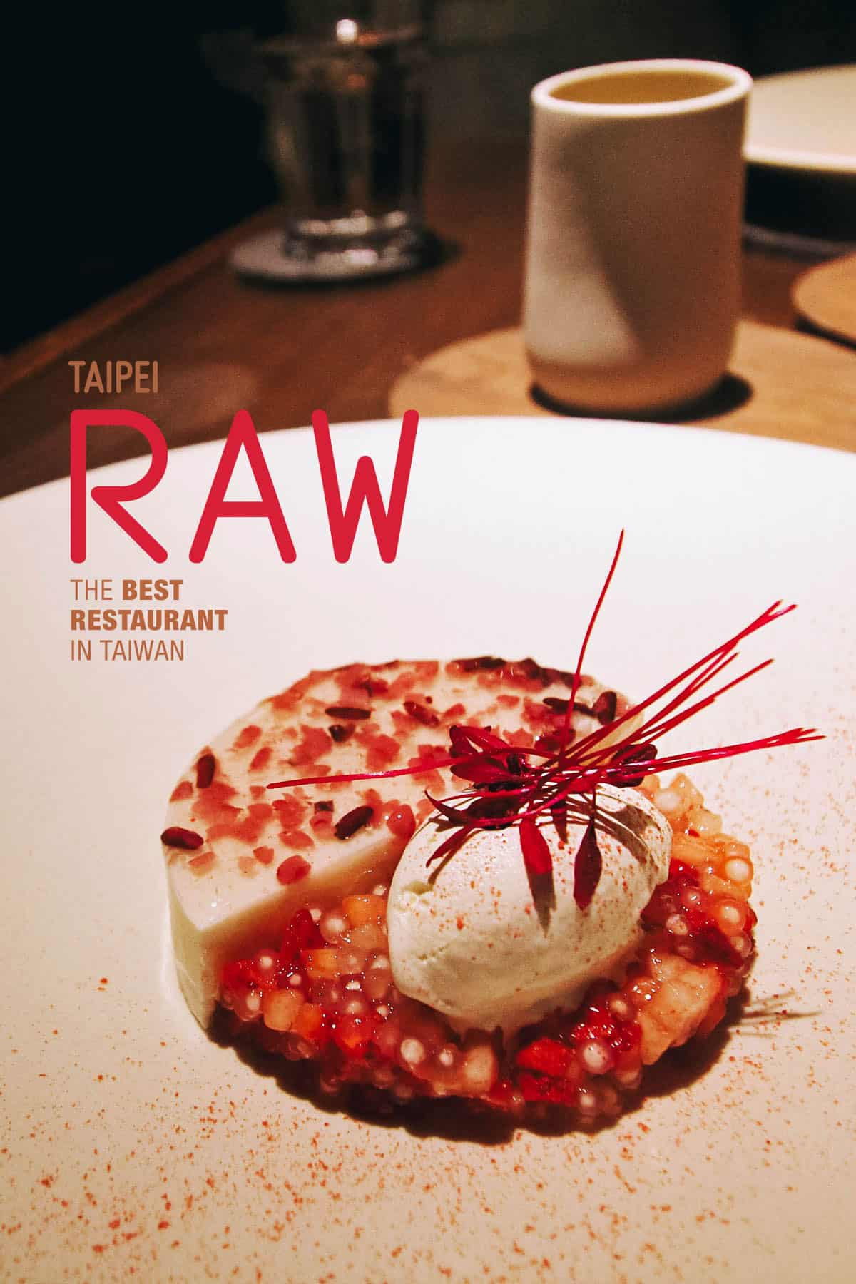 Dessert at RAW in Taipei, Taiwan