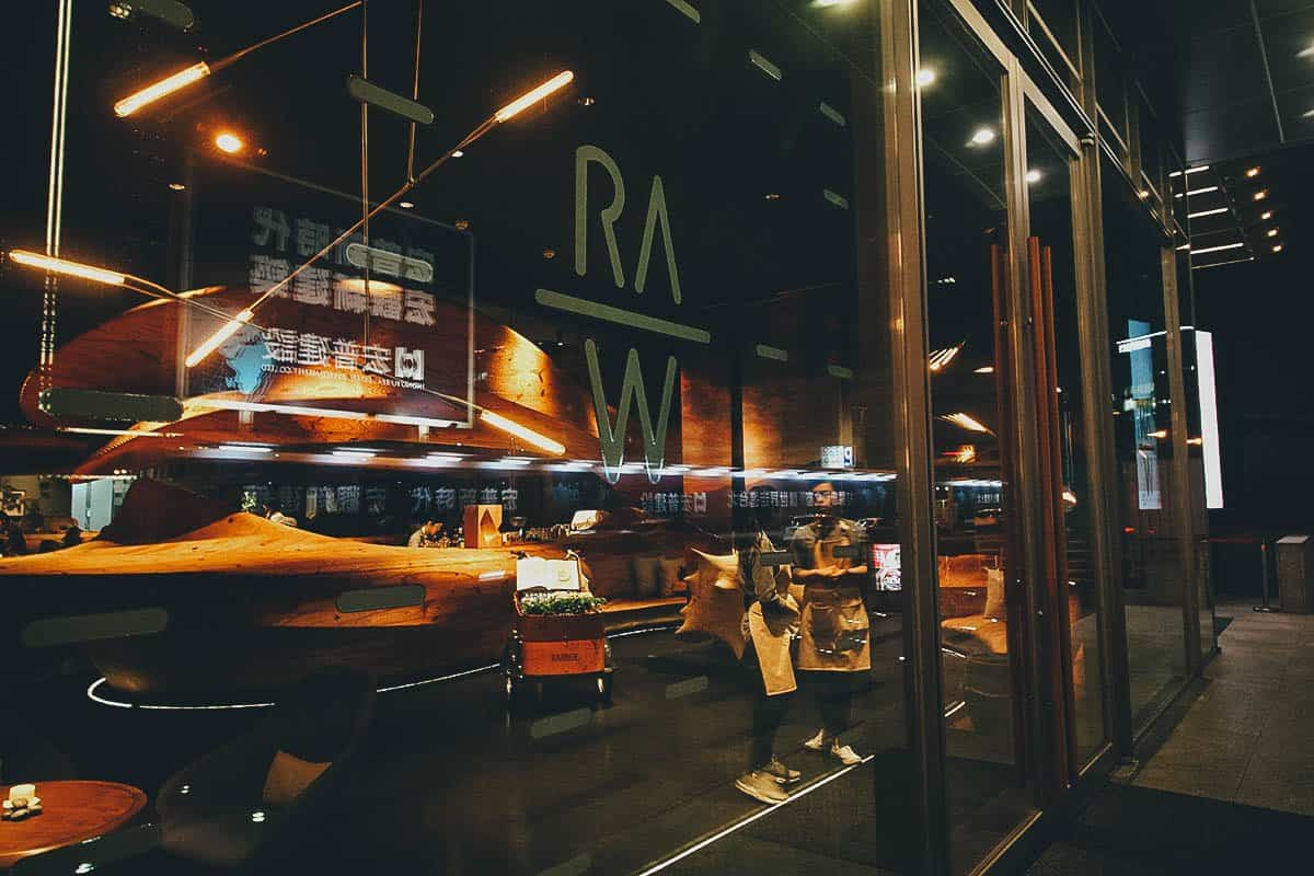 RAW, Taipei: The Best Restaurant in Taiwan