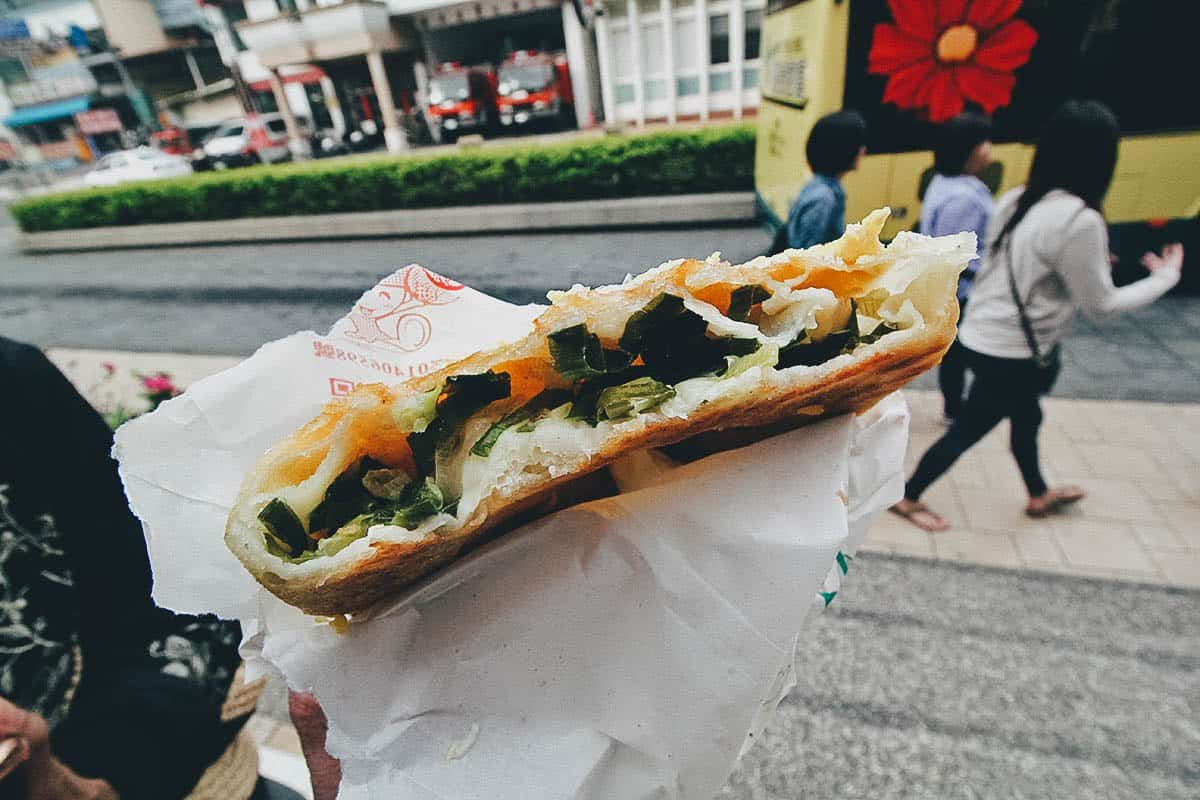 Scallion Pancakes in Taiwan