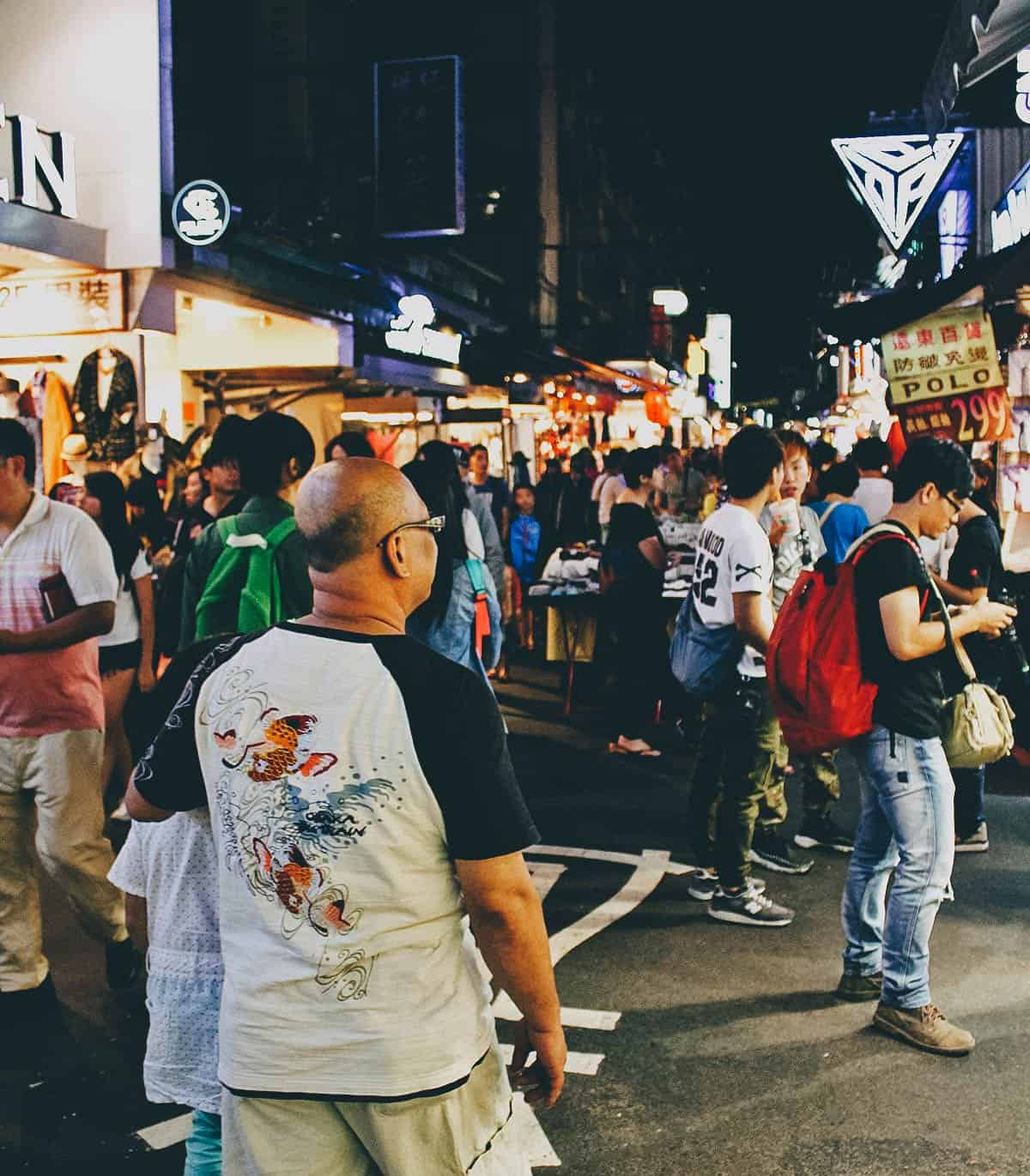 Shilin Night Market in Taipei, Taiwan