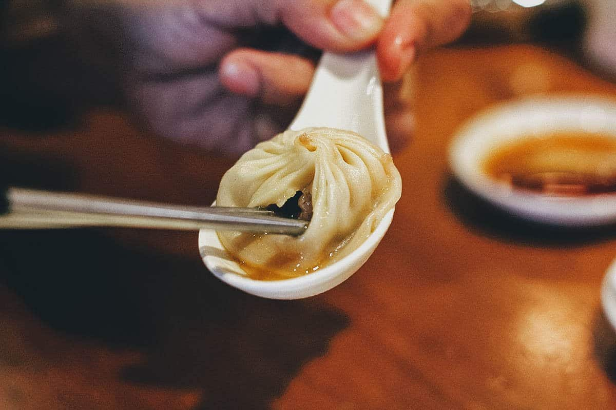 Xiao long bao at Din Tai Fung in Taipei, Taiwan