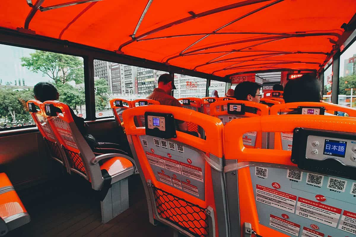 City Sightseeing Hop On Hop Off Bus, Taipei, Taiwan