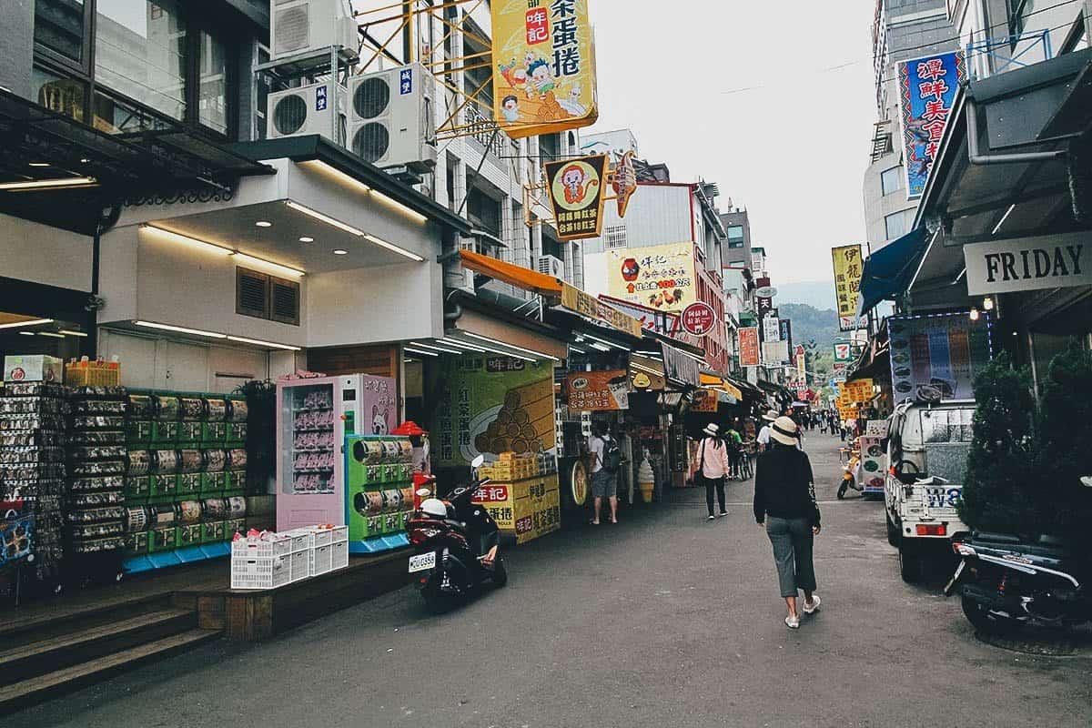 Ita Thao Shopping Street, Sun Moon Lake, Nantou County, Taiwan