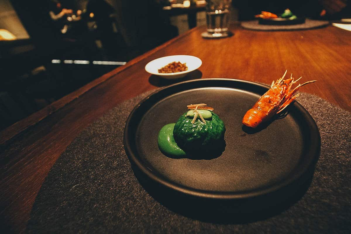 Tasting menu at RAW in Taipei, Taiwan