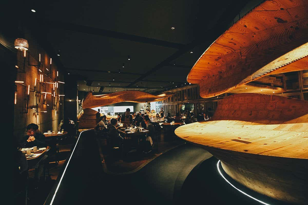 Interior at RAW in Taipei, Taiwan