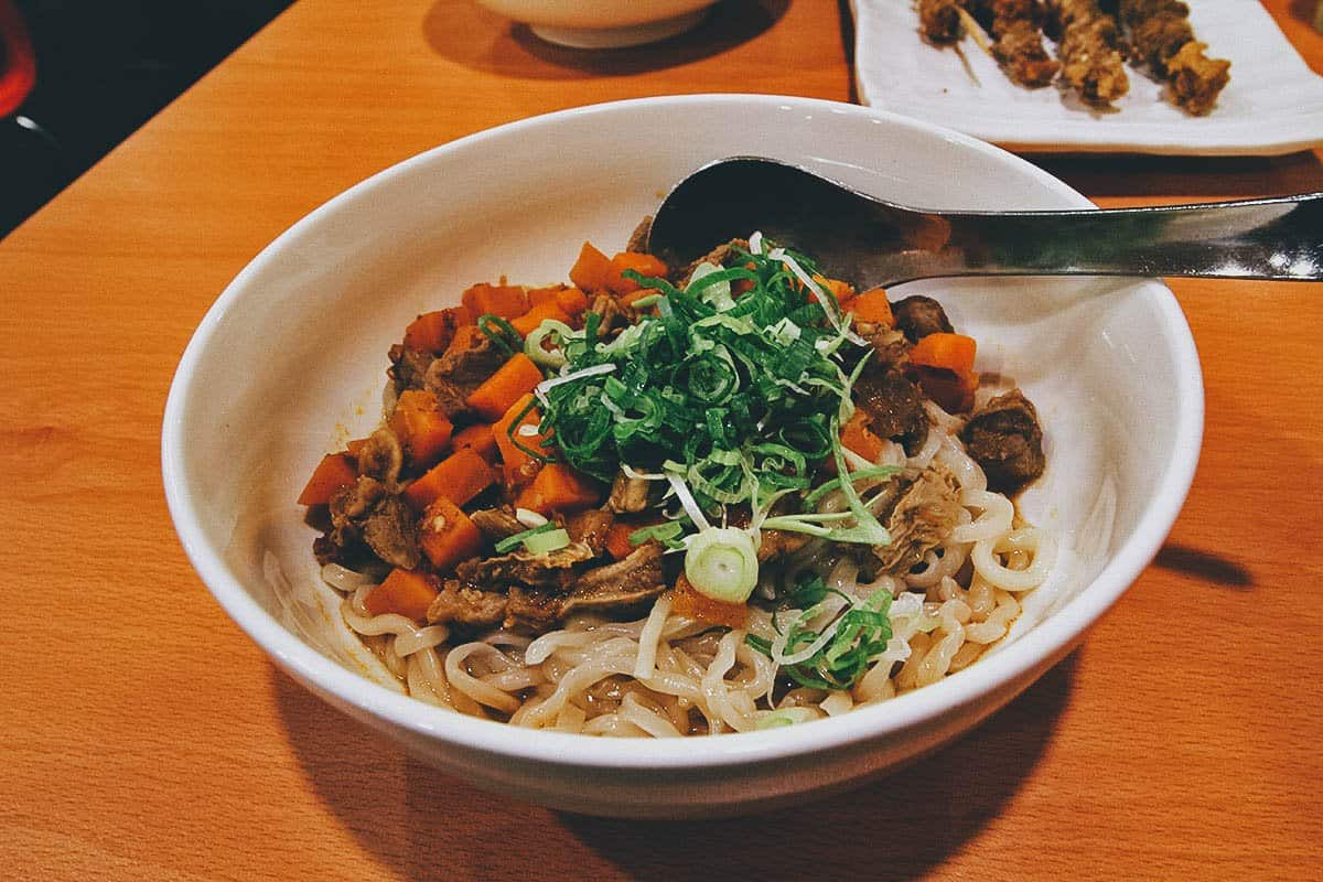 Knife-cut noodles from Shao Shao Ke in Taipei, Taiwan