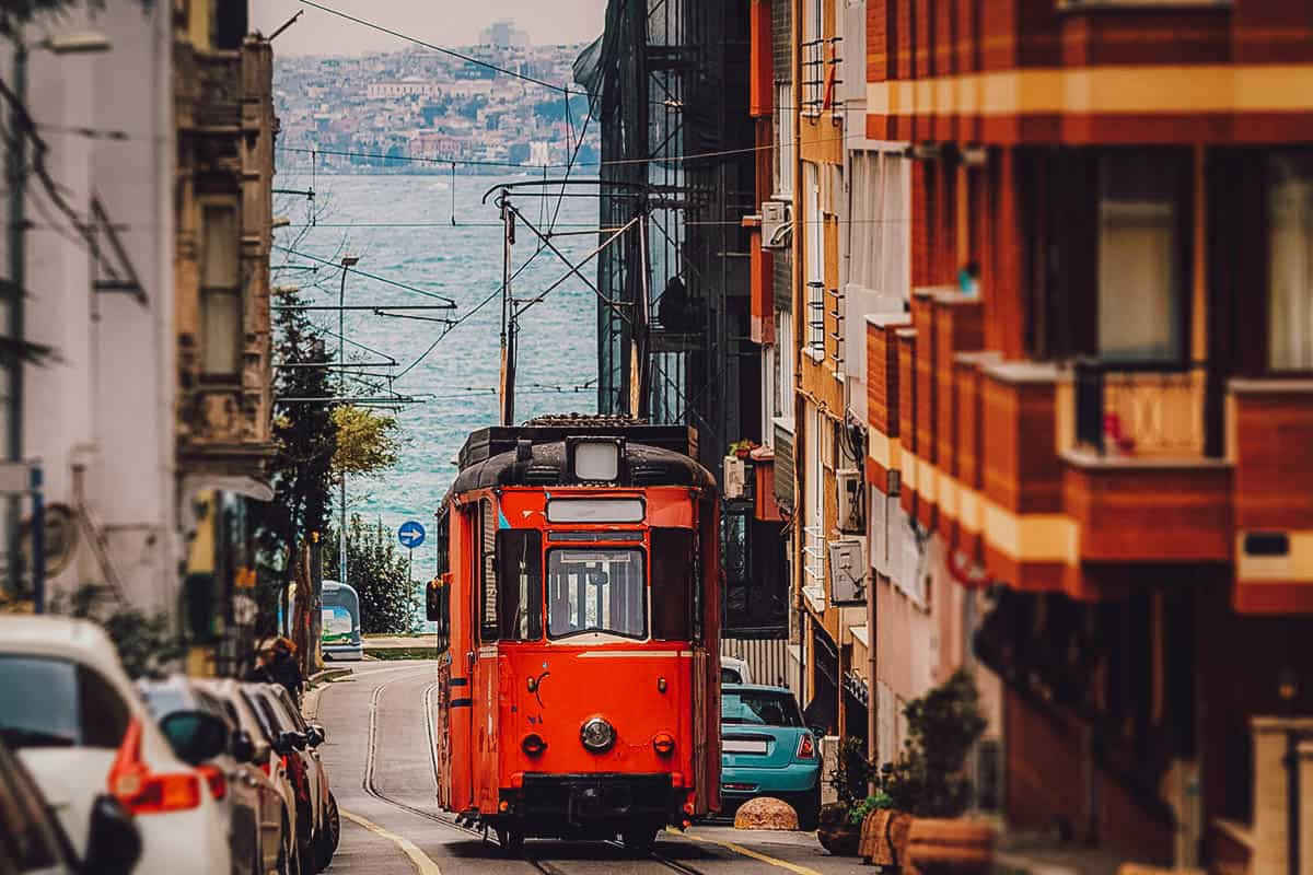 Cable car in Kadikoy, Istanbul, Turkey