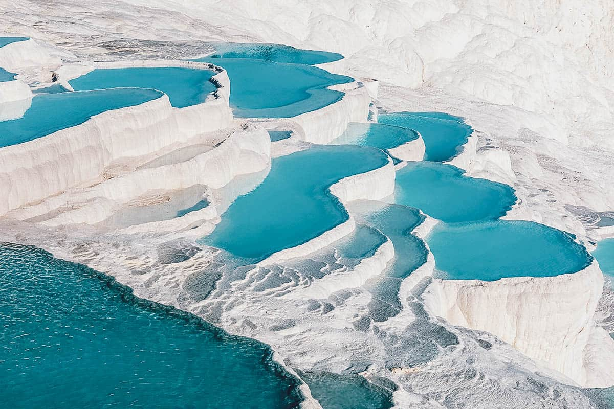 Calcium travertines in Pamukkale