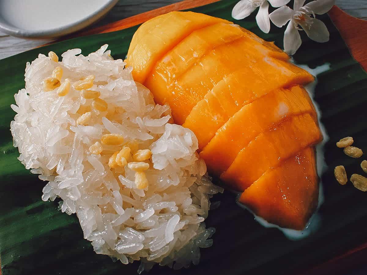 Mango sticky rice in Krabi