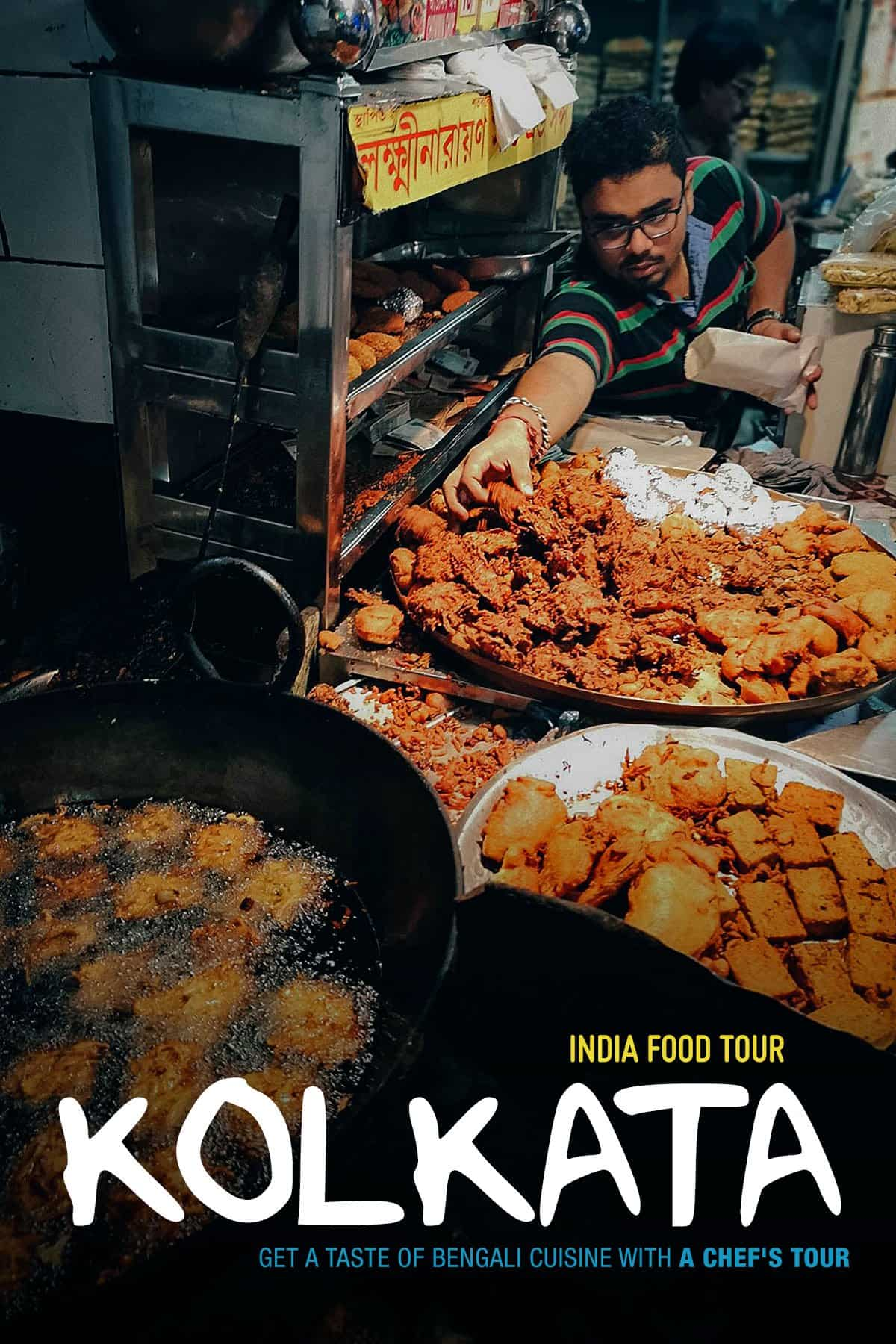 Street food in Kolkata, India