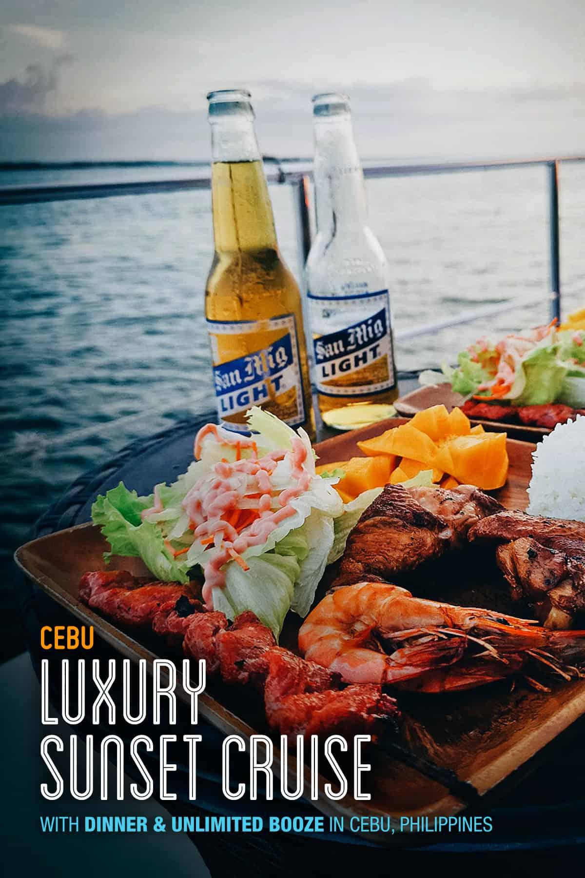 Dinner on yacht