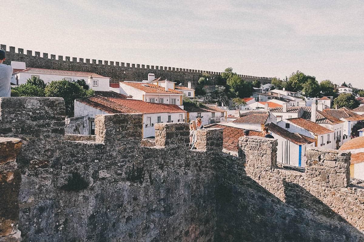 Drinking Ginja de Óbidos in Portugal
