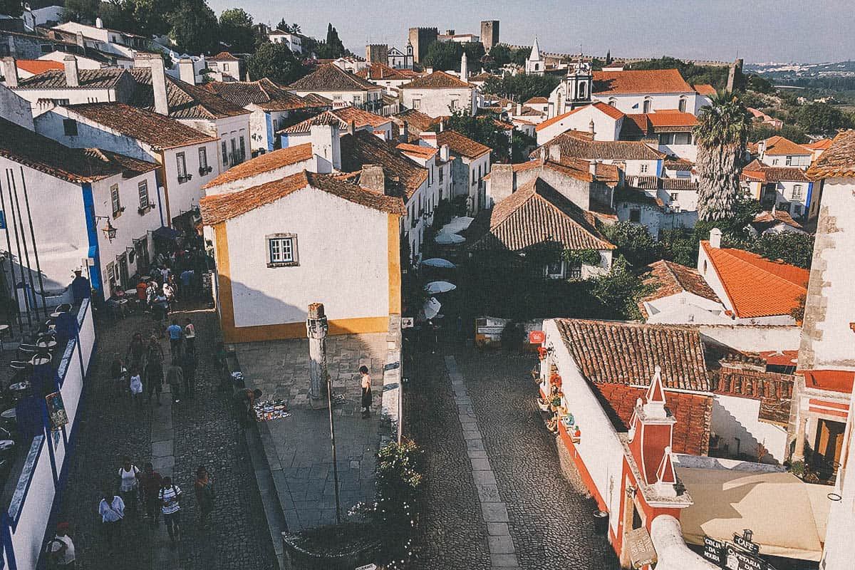 Drinking Ginja de Óbidos in Portugal
