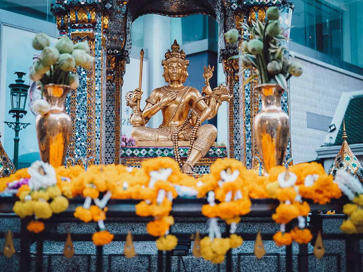 Erawan Shrine in Bangkok, Thailand
