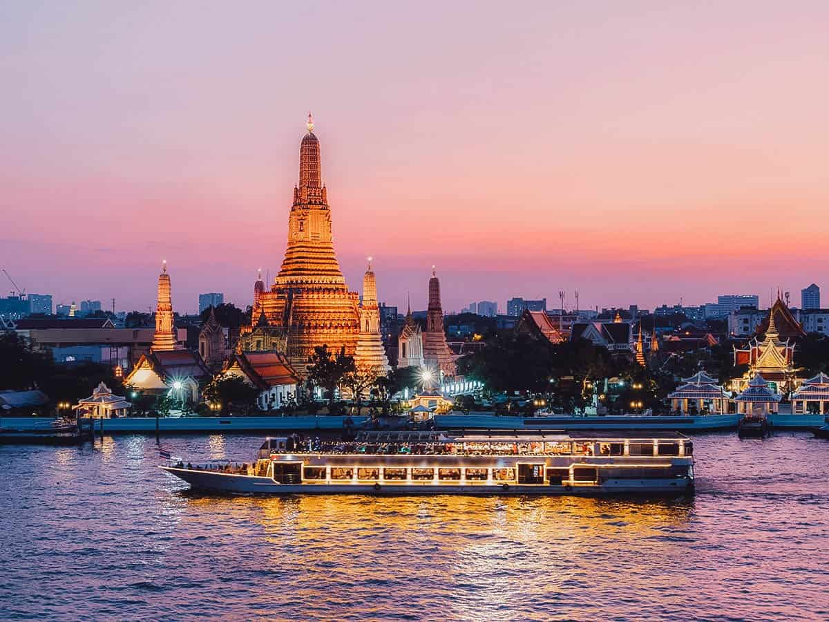 Chao Phraya River cruise in Bangkok, Thailand
