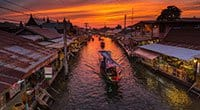 Day Tour from Bangkok: Maeklong Railway Market and Damnoen Saduak Floating Market