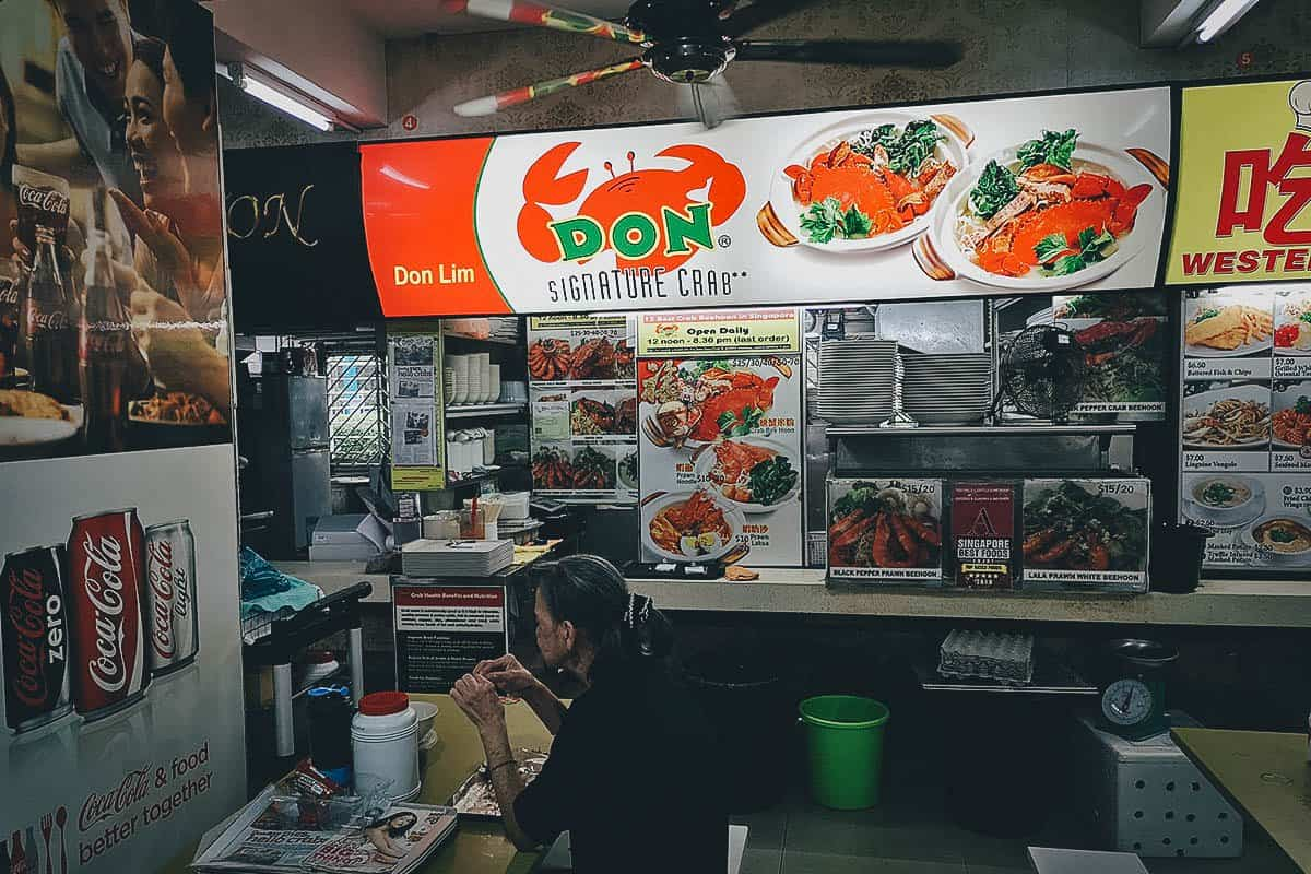 Don Signature Crab stall