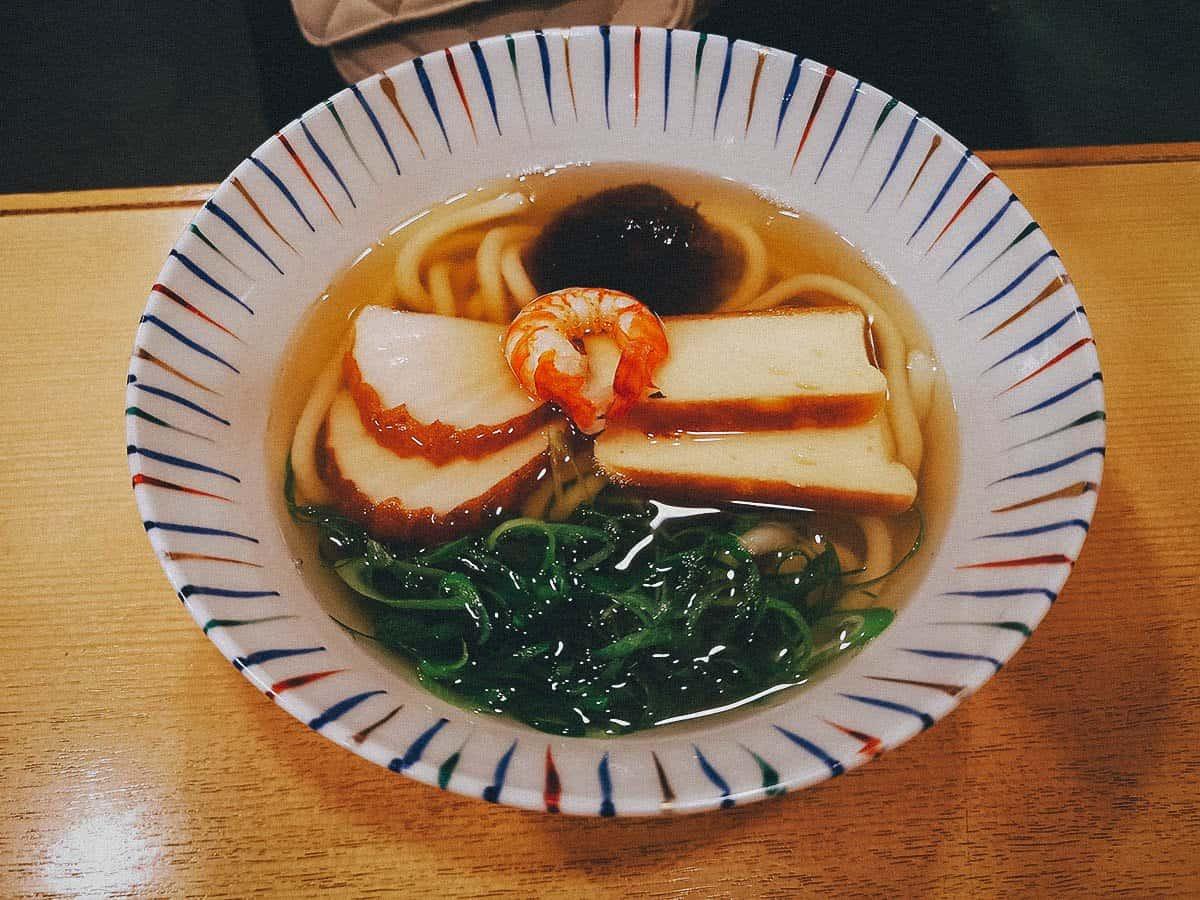 Bowl of udon at Dotombori Imai Honten