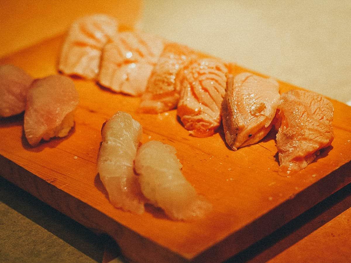 Salmon aburi at Jinen Shimizucho