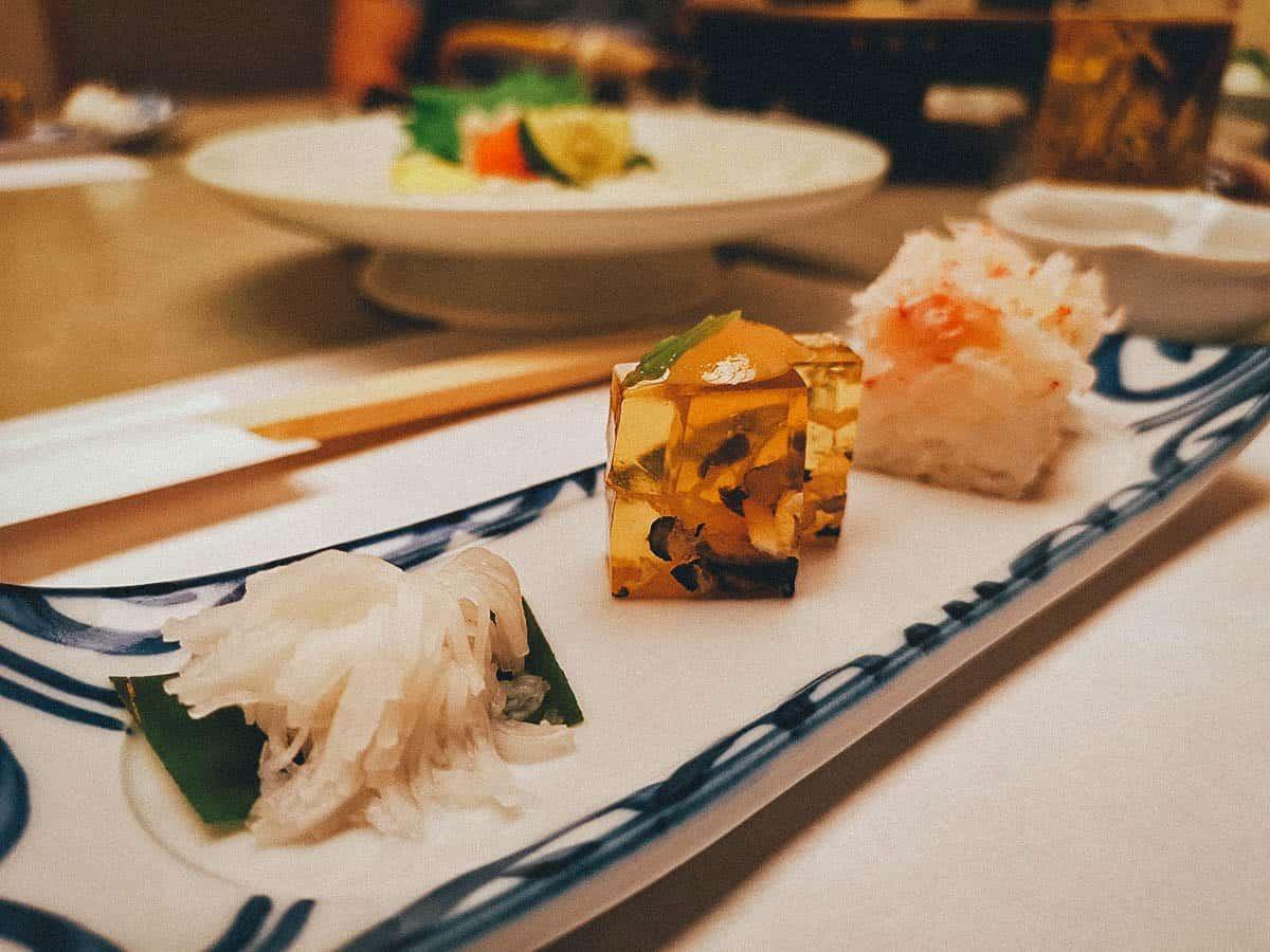 Appetizers at Kisoji