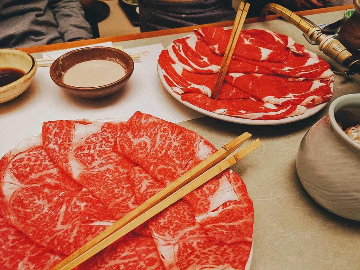 Cuts of beef at Kisoji