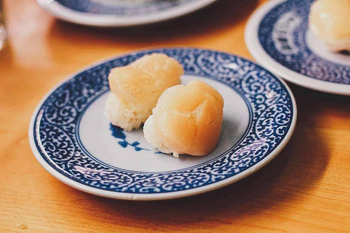 Scallop sushi at Kura