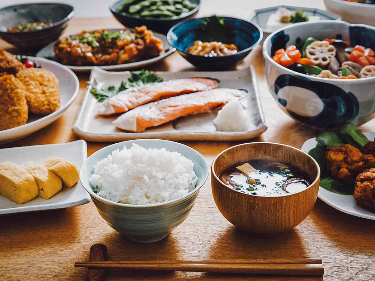 Home-cooked Japanese meal