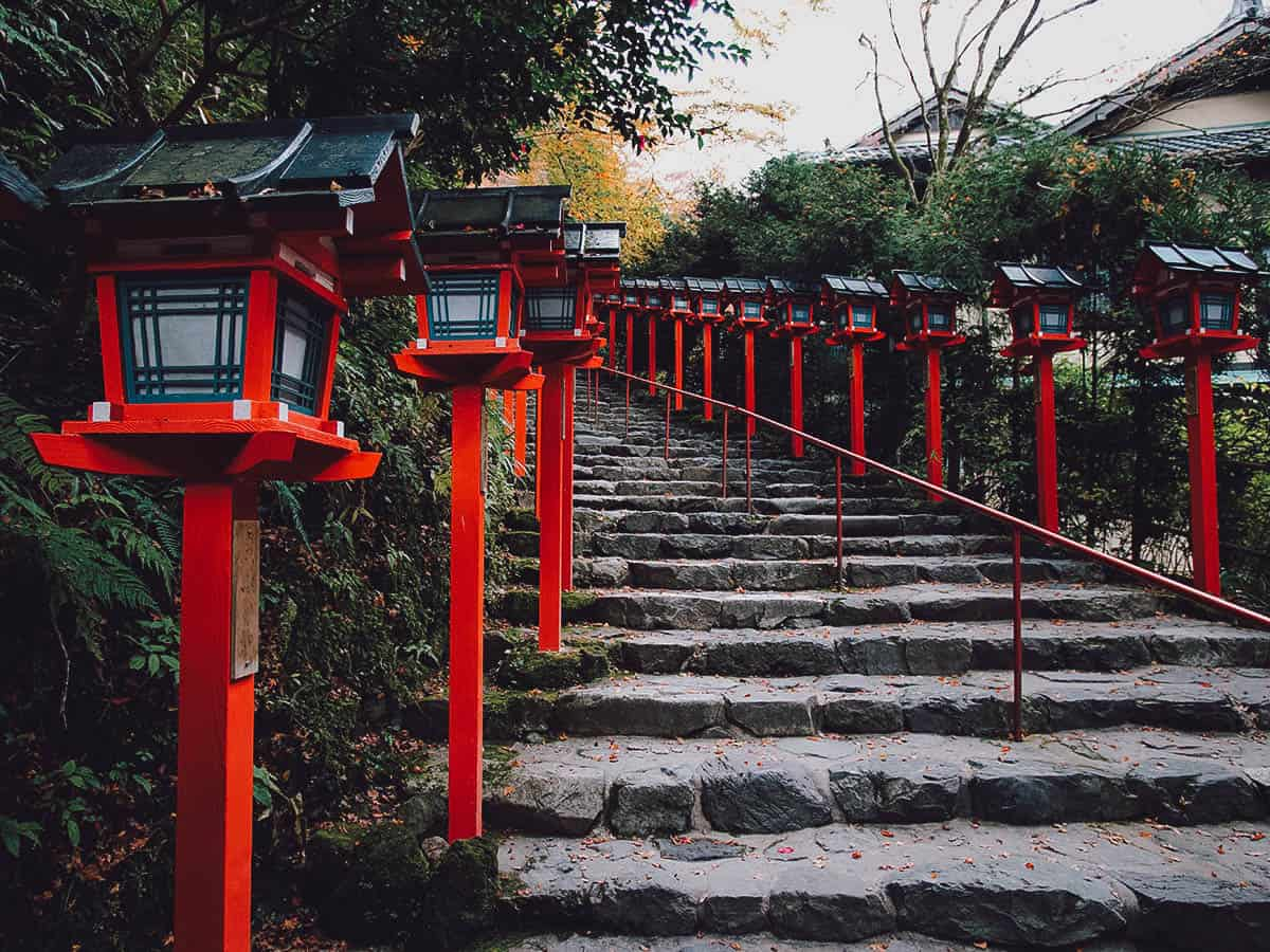 Steps with red lanterns
