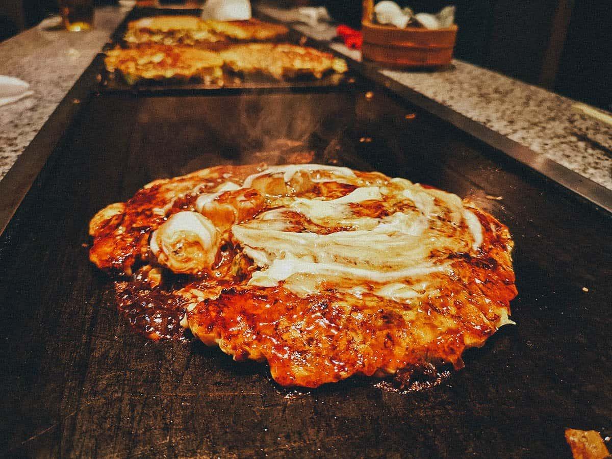 Okonomiyaki at Mizuno