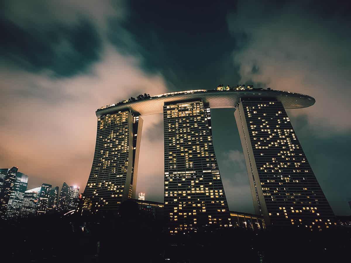 Evening view of Marina Bay Sands, Singapore
