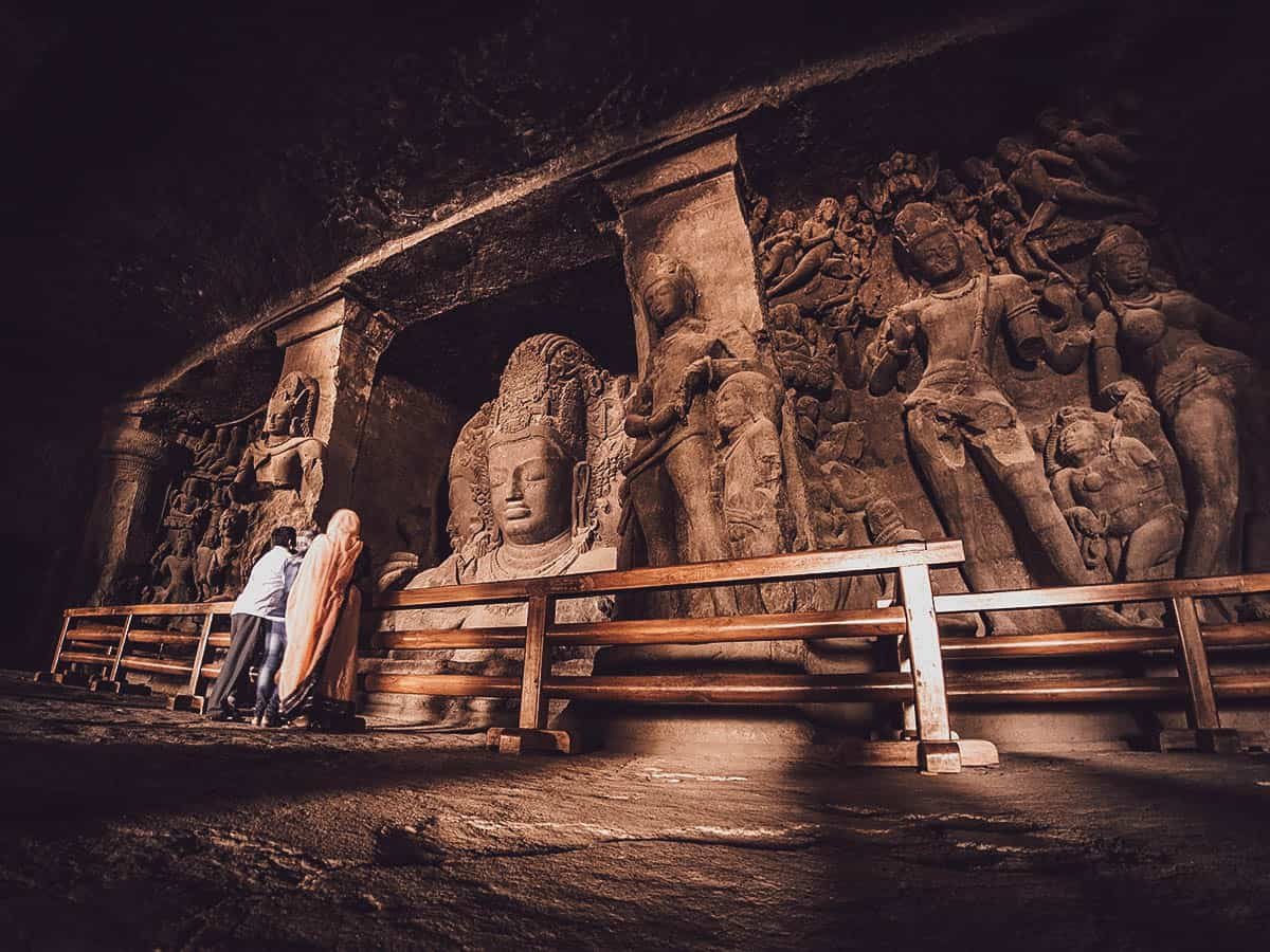 Inside Elephanta Caves