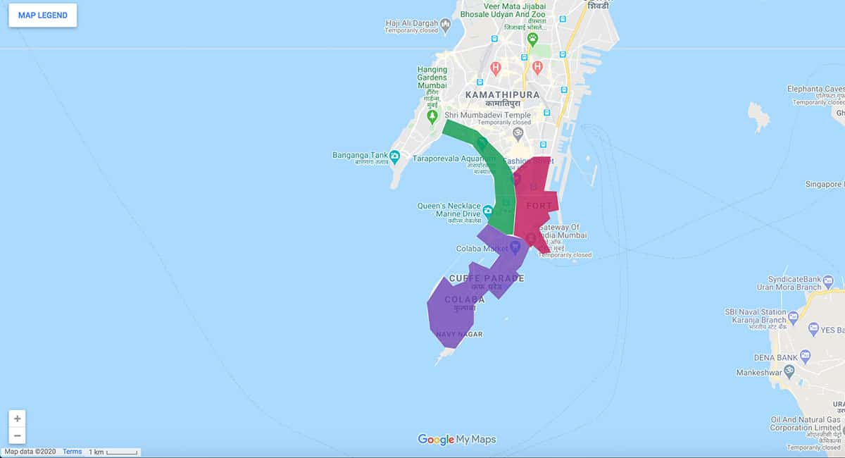 Mumbai area map