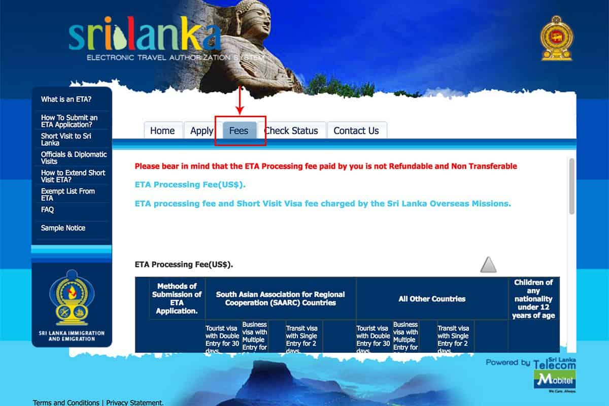 How to Apply for an ETA to Sri Lanka