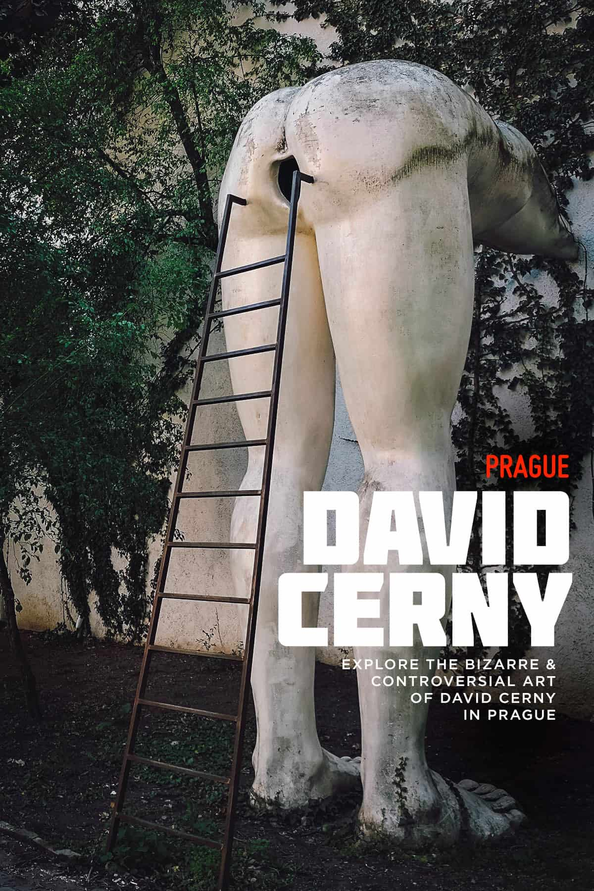 David Cerny sculpture in Prague, Czech Republic