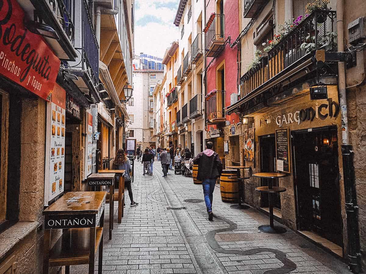 Walking through the streets of Logroño