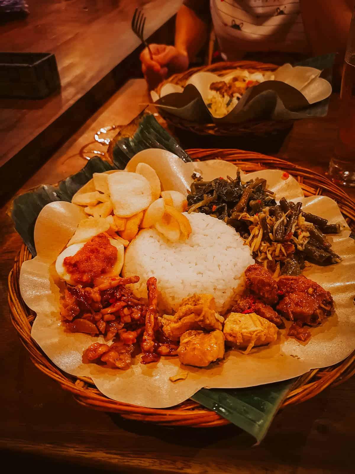 Indonesian food in Bali