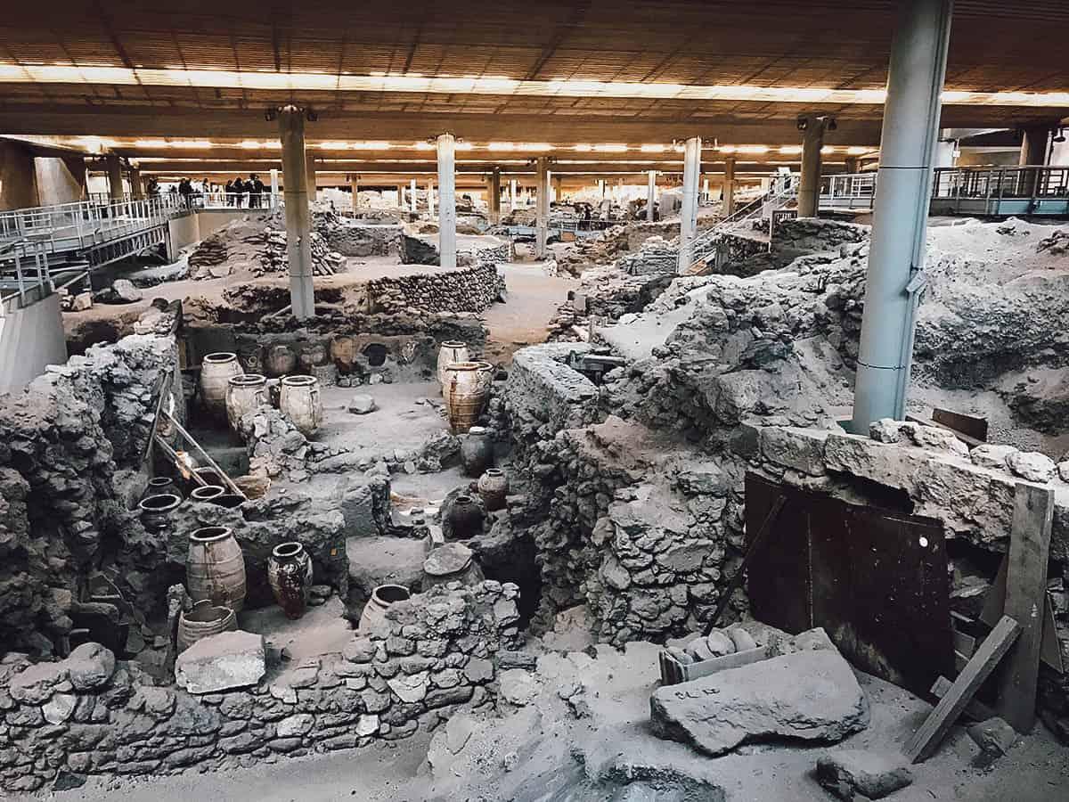 Akrotiri Archaeological Site, Santorini, Greece
