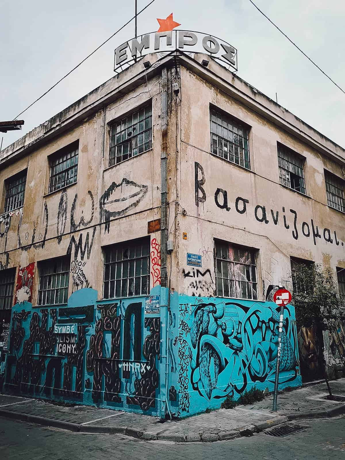 Grafitti in Athens, Greece