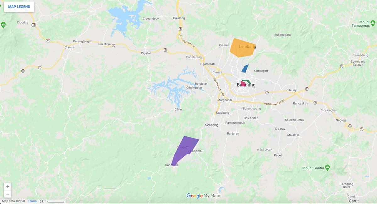 Bandung area map