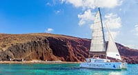 Santorini: Small Group Cruise by Luxury Catamaran