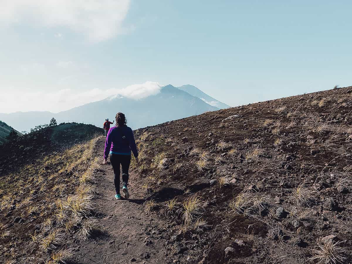 People hiking on Mt. Batur