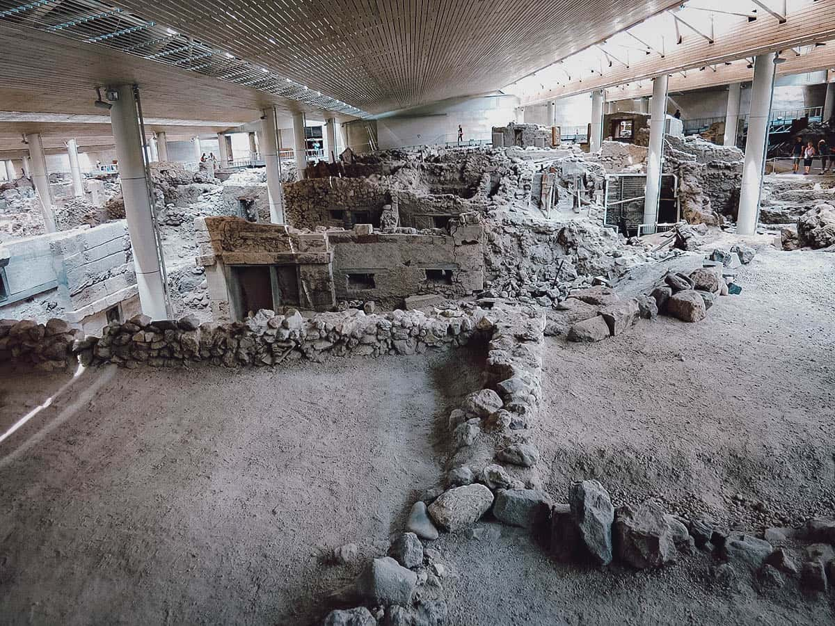 Akrotiri Archaeological Site, Santorini, Greece