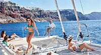 Santorini Gems: Small Group Sailing Cruise on a Catamaran