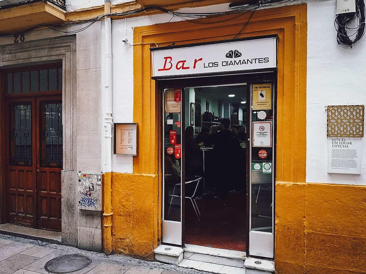 Tapas at Bar Los Diamantes in Granada, Spain