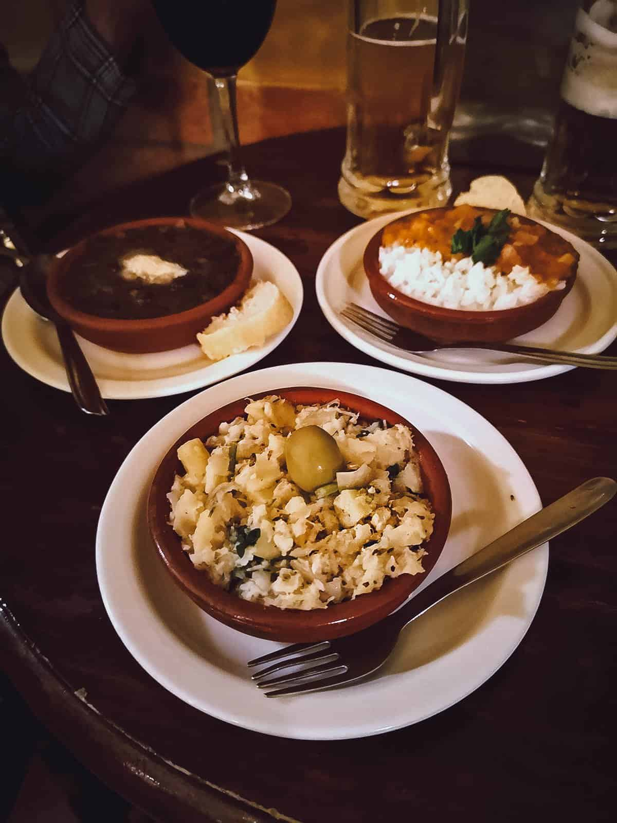 Trio of tapas at Bar Poe