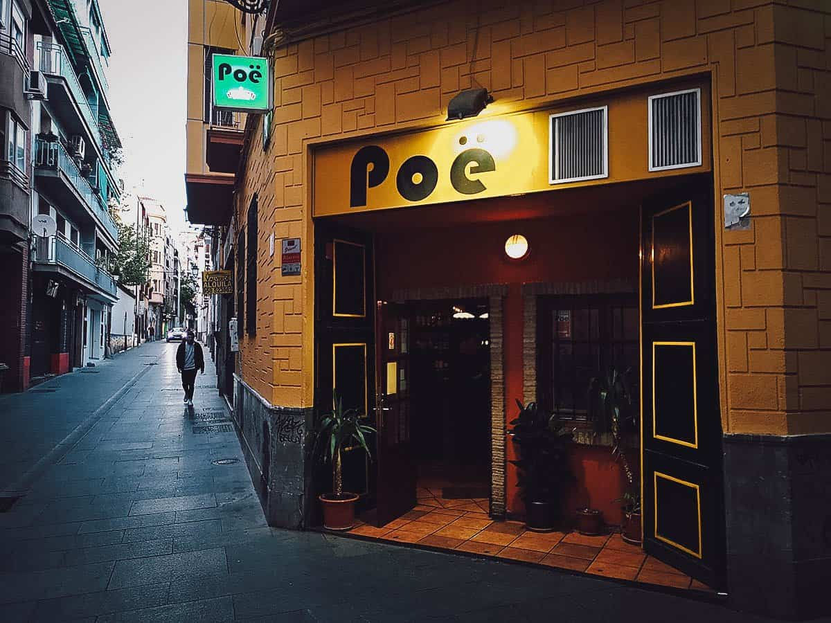 Tapas at Bar Poë in Granada, Spain