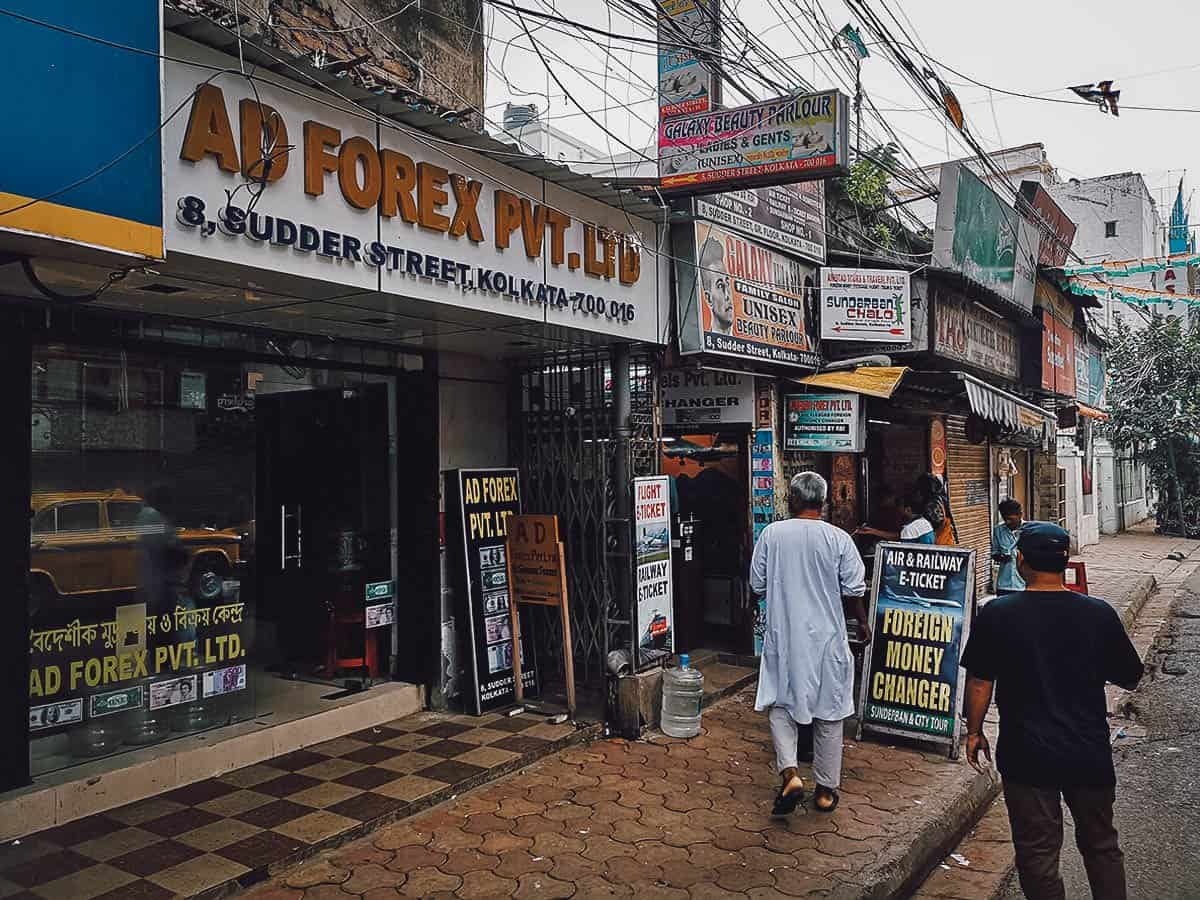 Currency Exchange in Kolkata, India