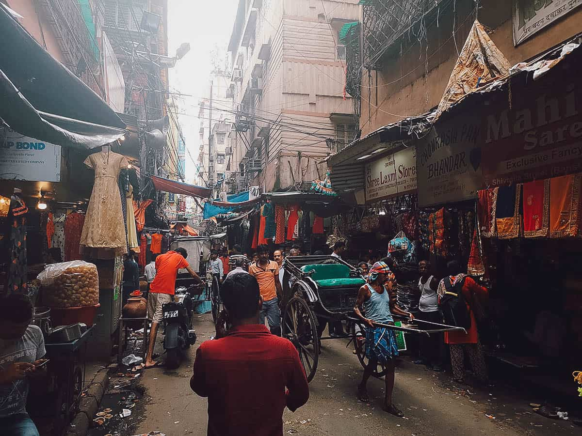 Hand-pulled Rickshaws in Kolkata, India