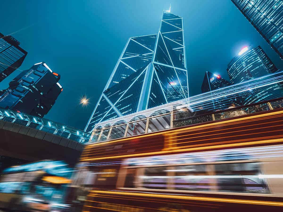 Streaking hop on hop off bus in Hong Kong